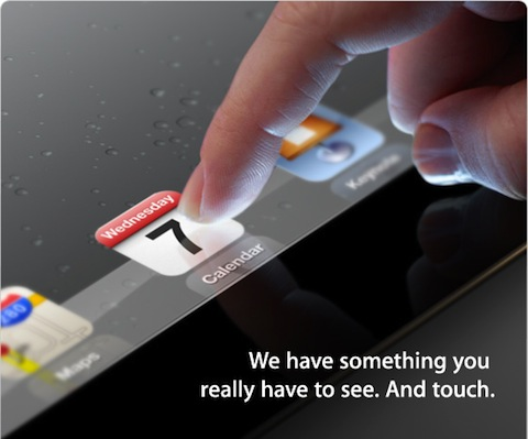 Apple's teaser image for the iPad 3 unveiling on March 7